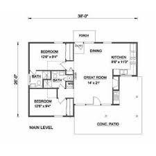 farmhouse style house plan 2 beds 2 00 baths 835 sq ft plan 116 230