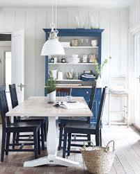 Blue Dining Room by White And Blue Country Dining Room Interiors By Color