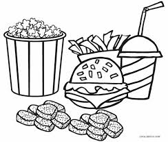 coloring pages outstanding food coloring pages junk food