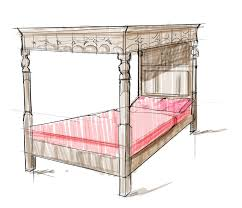 How To Draw A Bed Interior Design Rendering How To Draw A Testerbed