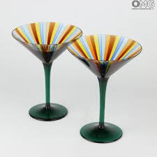 martini green set of 2 drinking glasses coppa martini green you u0026me murano
