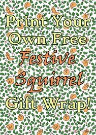 free squirrels printable wrapping paper