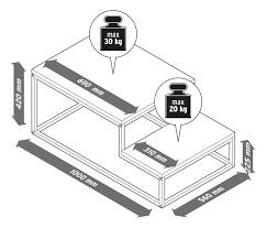 couchtisch mit 2 etagen online bestellen bei tchibo 350064