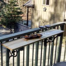 Deck Bench Bracket Kulshan Balcony Railing Table Brackets Cascade Manufacturing