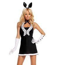 Playboy Bunny Costume Halloween Polyester Playboy Dress Costumes Women Ebay