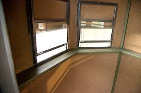 Best Blinds For Sliding Windows Ideas Top Steel Deer Hunting Blinds Shooting Houses Throughout Blind