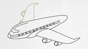how to draw an airplane step by step youtube clip art library