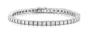 bracelet silver tennis images Silver diamond set 100ct tennis bracelet item ud3225 cheap diamond jpg