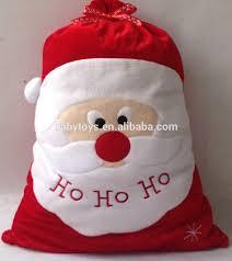 large christmas santa sack felt bag drawstring merry christmas