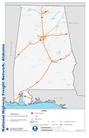 Network Map National Highway Freight Network Map And Table For Alabama Fhwa