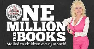 dolly parton is sending 1million free books to children every