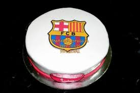 football cakes fcb club theme cake delivery noida fc barcelona football cakes