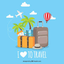 travel for free images Flat background i love to travel vector free download jpg