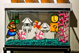 mario underwater world fish tank beadsprites
