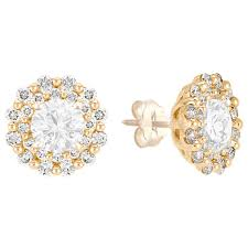diamond earring jackets diamond earring jackets in 14k yellow gold shane co