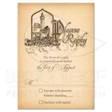Wedding Invitation Reply Cards Fairy Tale Wedding Rsvp Card Medieval Castle Once Upon A Time