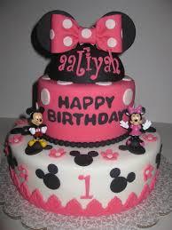 alliyah u0027s minnie u0026amp mickey mouse 1st birthday cake