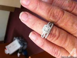 zales wedding ring sets wedding ring set designed vera wang from zales for sale in duffau