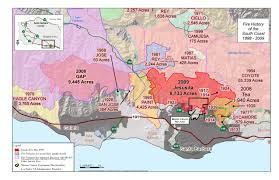 Ca Wildfire Map 2014 by District Maps Montecito Fire