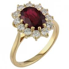 ruby diamond ring custom ruby and diamond cluster ring london ring uk
