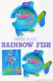 paper plate rainbow fish craft i heart arts n crafts