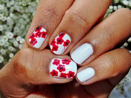 white flower nails elegant floral nail art design tutorial youtube