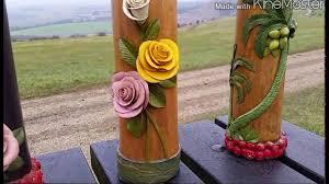 handmade bamboo flower vase the north animal youtube