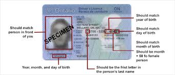 the personal information about you on your ontario drivers licence