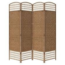4 panel paper straw weave screen on 2