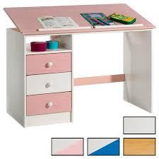 bureau enfant bureau enfant kevin en pin massif 3 tiroirs et plateau inclinable