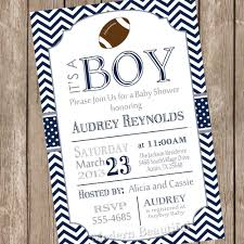 baby shower sports invitations for boy chevron football baby shower invitation football navy grey