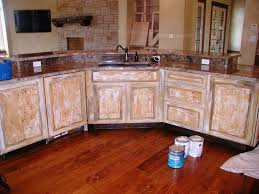 rustic painted kitchen cabinets kitchen decoration