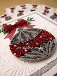 quilled christmas ball quilling by zea quilling dreams