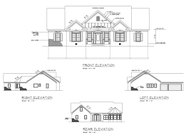 house plans with rear view ranch house plan with 3 bedrooms and 4 5 baths plan 6246