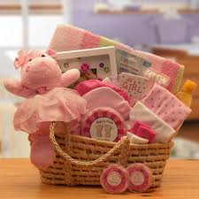 gifts delivered baby gift baskets for the precious new baby girl with free shipping