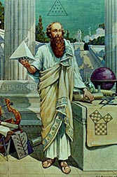 biography of pythagoras math word definition math open reference