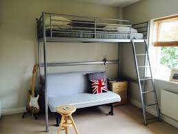 aluminum full size loft bed with futon futon mattress of full