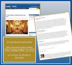 Design Firm Names Us News U0026 World Report Names Mbid Hotel B U0026b Design Client King U0027s