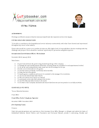 Sample Resume Format For Admin Manager by Front Office Assistant Sample Resume