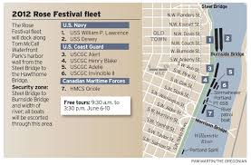 Rose Parade Route Map by Rose Festival 2012 Rose Festival Schedule Oregonlive Com