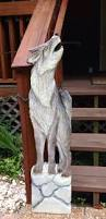country home accents and decor timber wolf 4ft tall chainsaw wildlife canine wall mount rustic