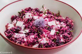 cuisine salade salade de semoule betterave et chèvre kilometre 0 fr