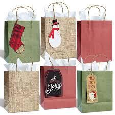 burlap gift bags kraft burlap gift bag tag set christmas gift bags christmas