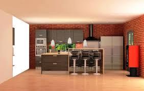 cuisine ouverte avec comptoir cuisine équipée bois foncé avec comptoir style cuisine américaine