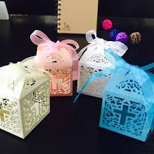 How To Make Decorative Gift Boxes At Home 50pcs Lot Diy Crossing Boxes Gift Box For Baby Shower