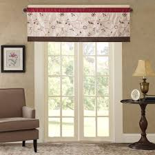 Window Valances For Living Room Amazon Com Madison Park Serene Window Valance Red 50x18 Home