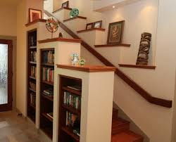 entertainment center under stairs hawaii staircase shelves built