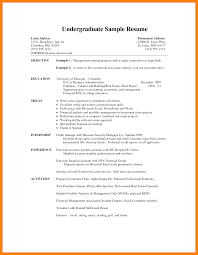 Equity Research Resume Sample by Download Undergraduate Student Resume Sample
