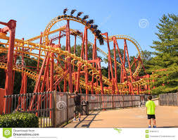Six Flags Rollercoaster Roller Coaster Six Flags Amusement Park Editorial Stock Photo