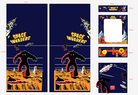 the arcade man space invaders arcade artwork decals space invaders
